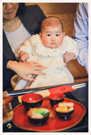 日本料理やまと(名古屋の有松)お食い初め料理 100日祝い