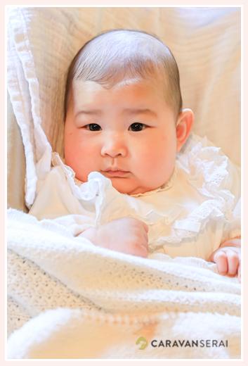 3か月の赤ちゃん 女の子 ベビードレス