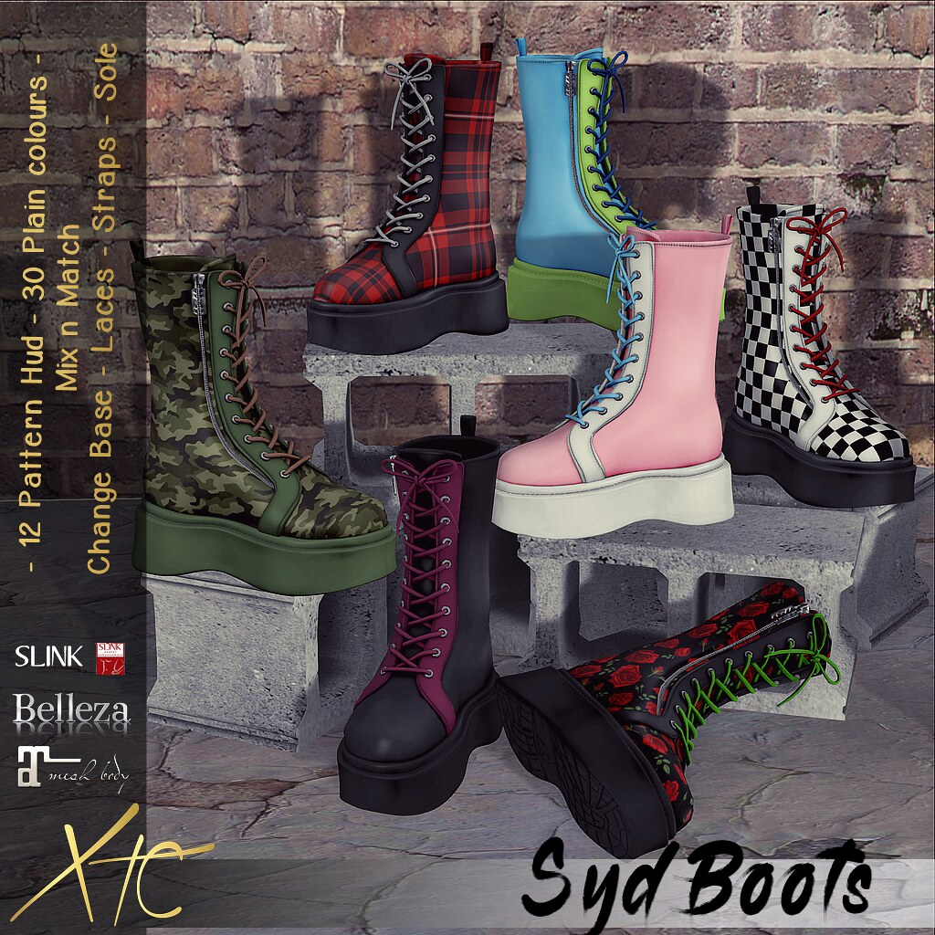 .Syd Boots. Multiple options