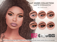 Dotty's Secret - My Nudes Collection - Matte Eyeshadow - SKIN FAIR Exclusive