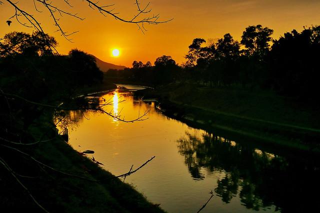 日落雙魚河   Sunset at Sheung Yue River
