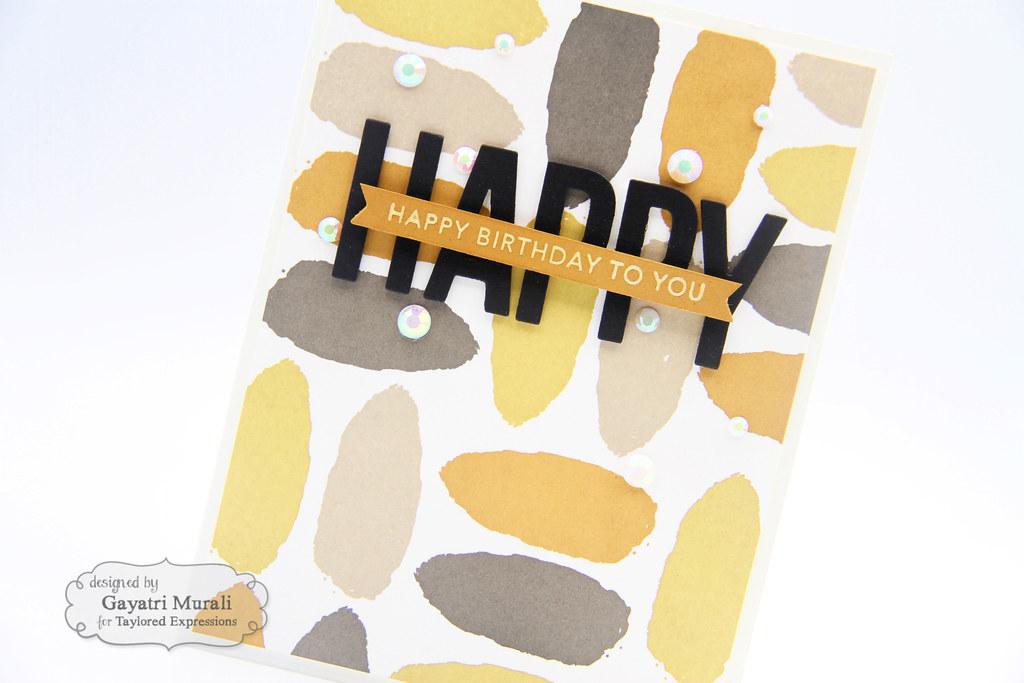 Color Combo #1 card Happy closeup