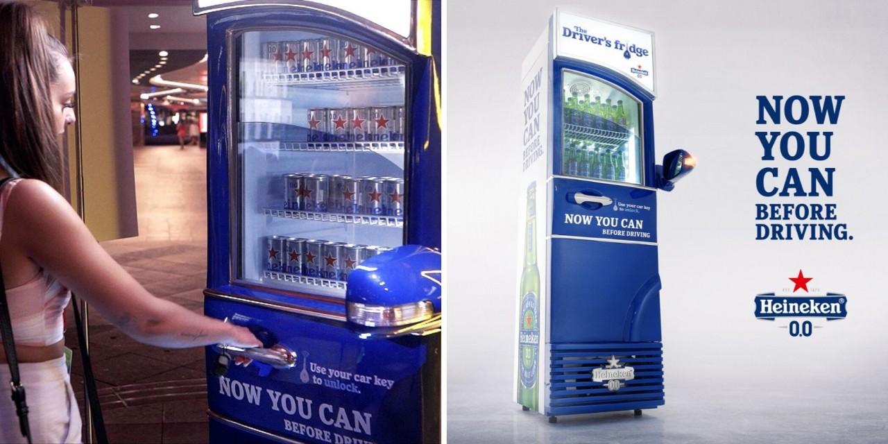 Heineken установила в Сингапуре холодильники с пивом для водителей