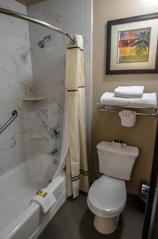 Best Western Pavilions shower bathroom