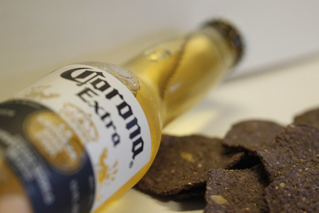 Corona Beer & Blue Corn Tortilla Chips