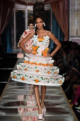 Jeremy Scott's fall 2020 collection for Moschino centers around the idea of cosplaying to Marie Antoinette, through what he calls