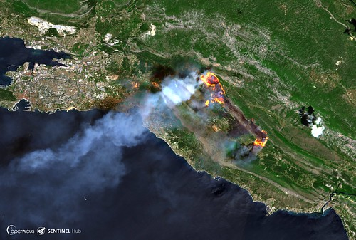 The 2017 Croatia Wildfires | by SentinelHub