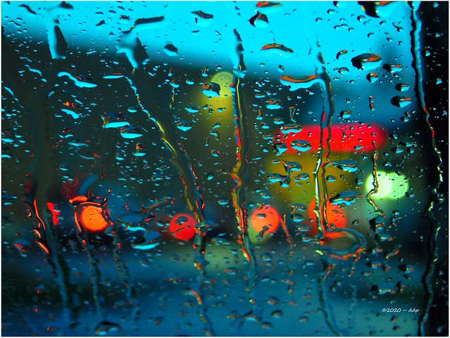 Taillights Headed for Walgreen's Drive-Up Window ~ Rainting