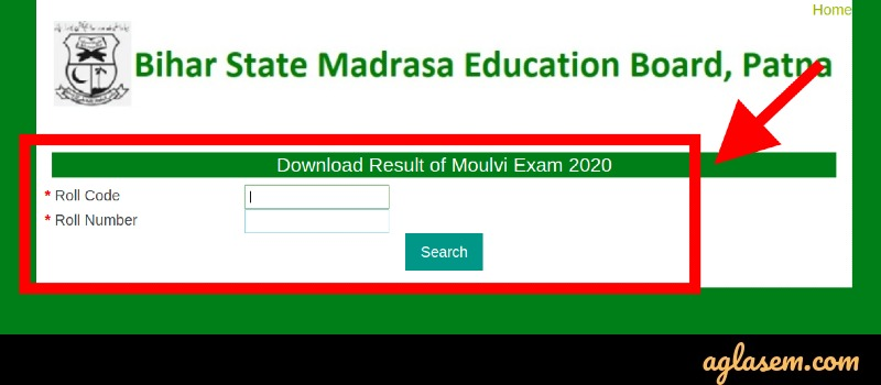 Bihar Madarsa Moulvi Result login