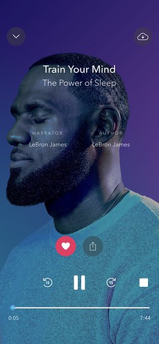 Calm - lebron on sleep