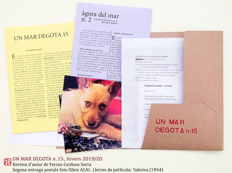 Un mar degota n.15, hivern2019/20, revista d'autor de Ferran Cerdans Serra