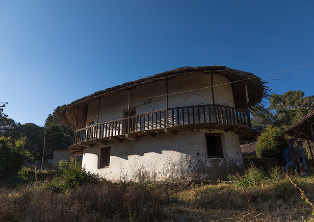 Exterior view to Menelik II palace at the top of Entoto mount, Addis Ababa Region, Addis Ababa, Ethiopia
