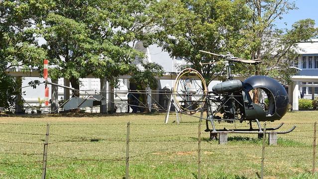 Bell OH-13H Sioux c/n 2392 Sri Lanka Air Force serial CH581 preserved at the Technical University near Kandy
