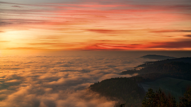 Colorful Sunset in the Northern Black Forest