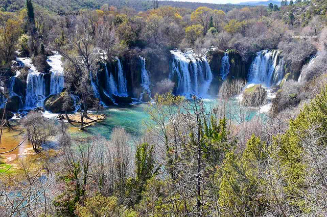 The Kravica waterfalls in Bosnia and Herzegovina