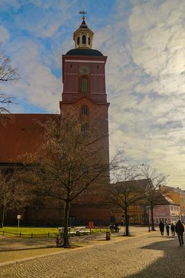 Der Turm der Spandauer Nikolaikirche