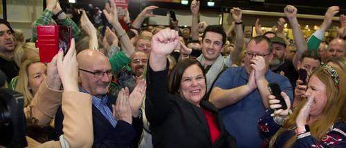 Mary Lou McDonald, leader dal Sinn féin, Dublino, 9 Fevrâr 2020