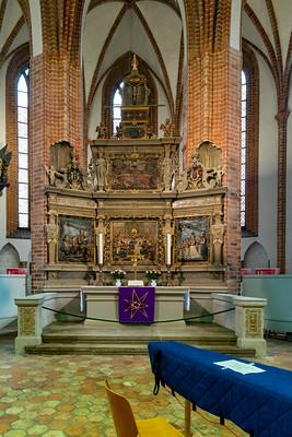 Der Altar der Spandauer Nikolaikirche.