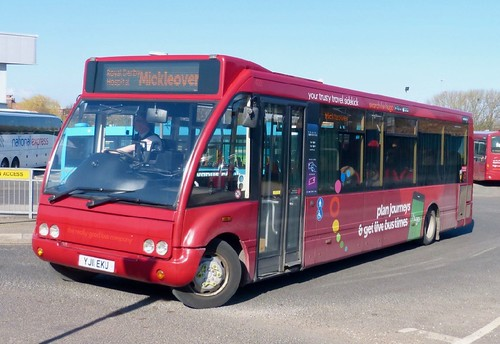 YJ11 EKU 'trentbarton' No. 492. Optare M950 Solo  on Dennis Basford's railsroadsrunways.blogspot.co.uk'