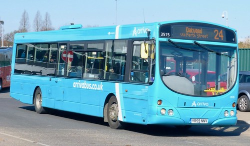 YR59 NNV 'ARRIVA Midlands' No. 3515. Scania K230UB / Wright Solar on Dennis Basford's railsroadsrunways.blogspot.co.uk'