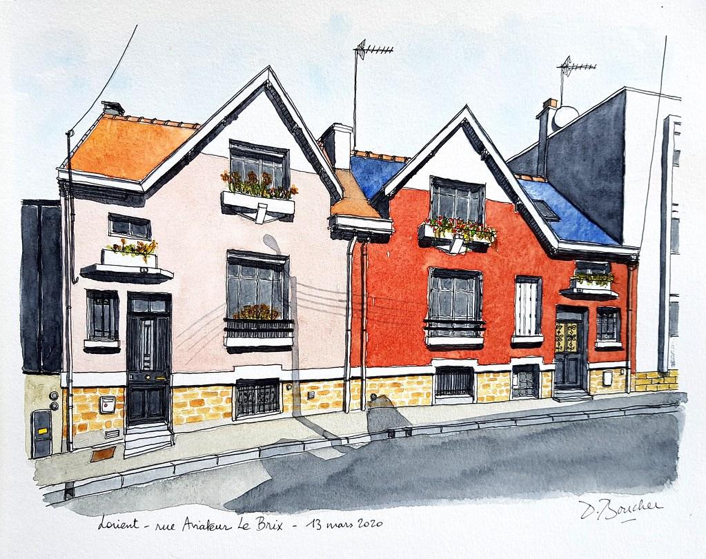 Rue Aviateur Le Brix - Lorient