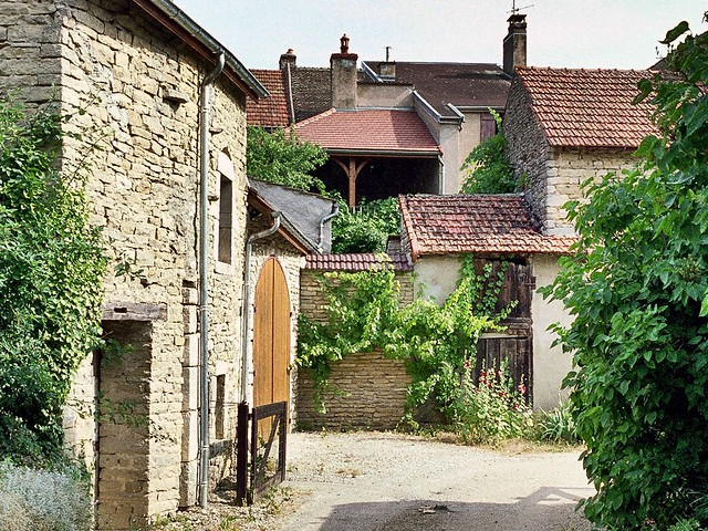 Scene from a small alley, Auxey Duresses, Bourgogne, France
