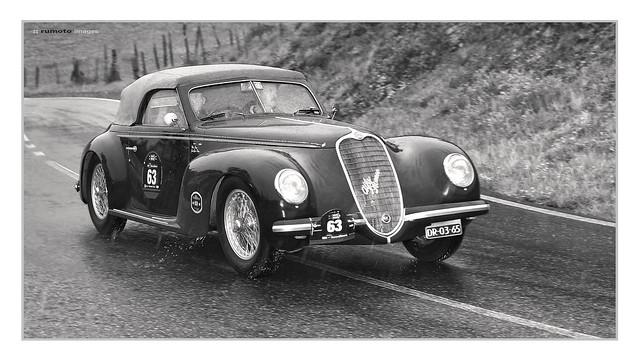 1939 Alfa Romeo 6C 2500 SS Wim Deijs Mille Miglia (c) Bernard Egger :: rumoto images 2261 mono