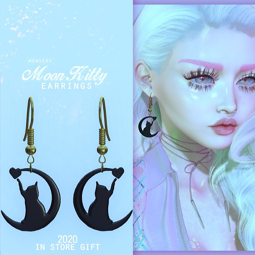 #Mewsery - MoonKitty Earrings (2020 Gift)