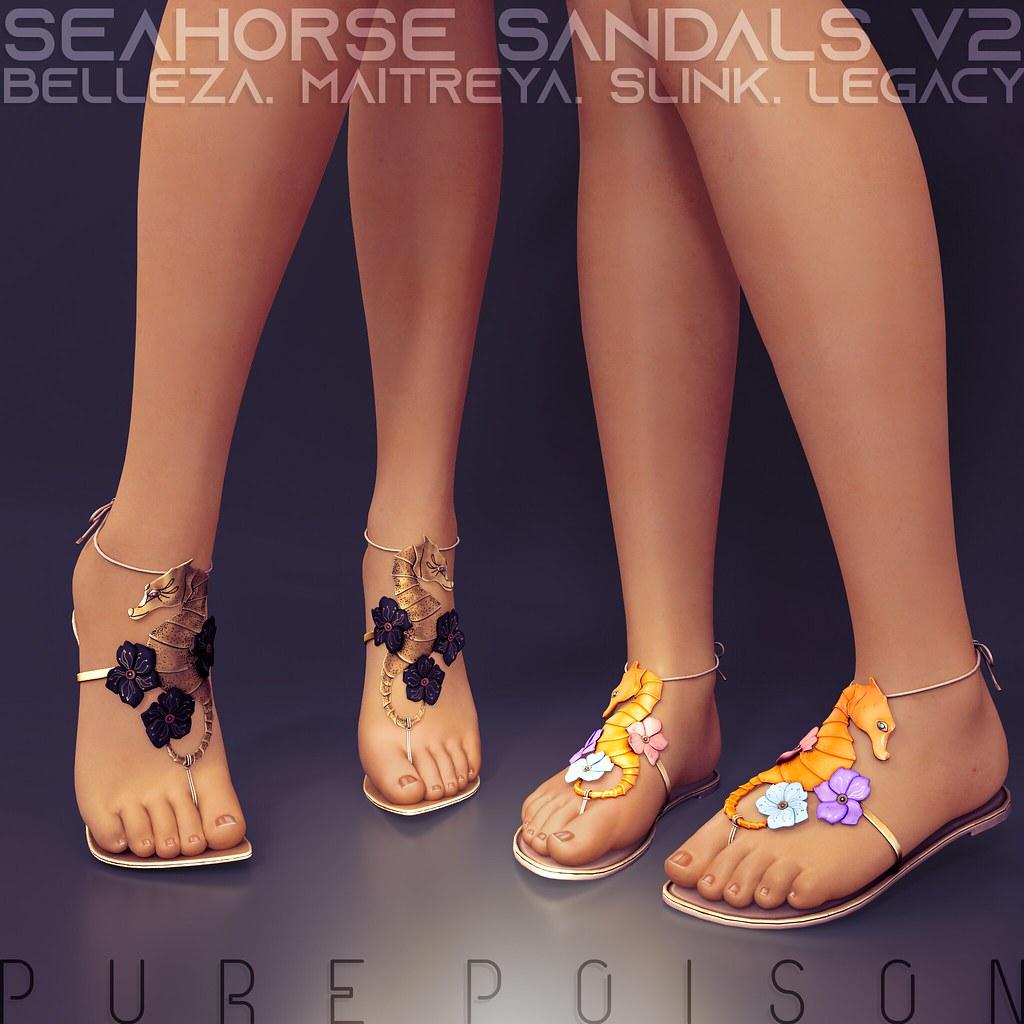 Pure Poison ~ Seahorse Sandals ~ Wanderlust Weekend, 50L