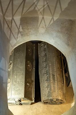 Das Grabmal von Rochus Guerrini Graf zu Lynar.