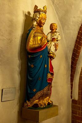 Die Spandauer Madonna in der Ribbeckschen Kapelle der Nikolaikirche Spandau.