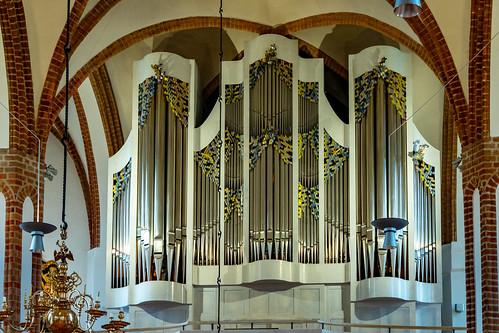 Die Orgel der Spandauer Nikolaikirche.