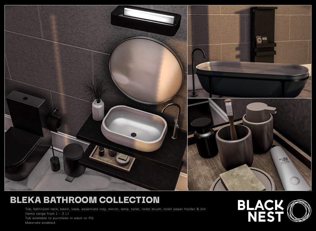 BLACK NEST | Bleka Bathroom Collection | kustom9