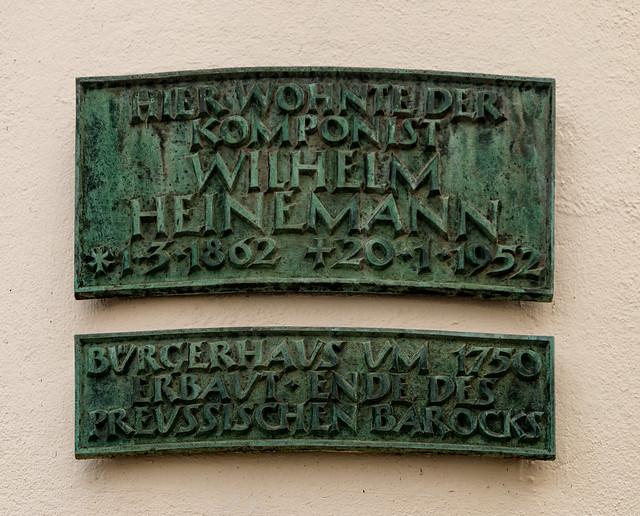 Gedenktafel für Wilhelm Heinemann