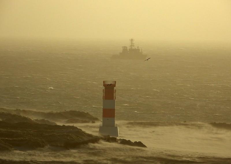 Sandsturm auf Helgoland