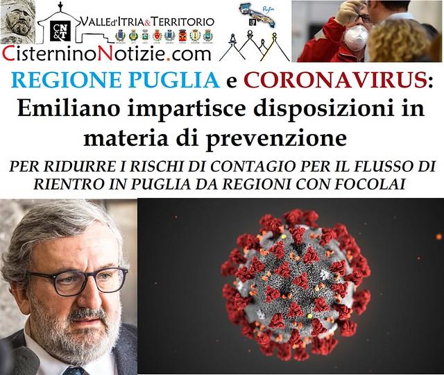 REGIONE-PUGLIA-e-CORONAVIRUS-EMILIANO-IMPARTISCE-DISPOSIZIONI-IN-MATERIA-DI-PREVENZIONE