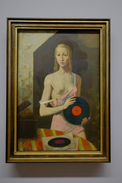 XE3F4419 - Girl with a Record (Chica con un disco) Karl Hofer (1878-1955)