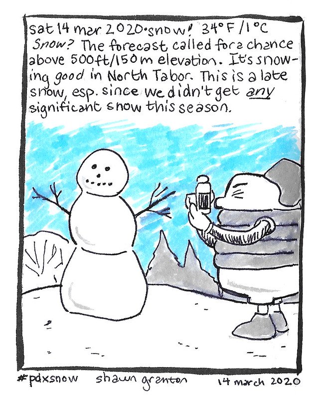 Journal Comic, 14 March 2020. Snow?