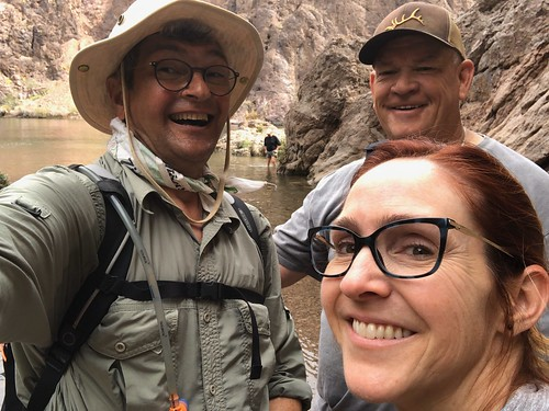 Nevada - three of us at the Colorado River