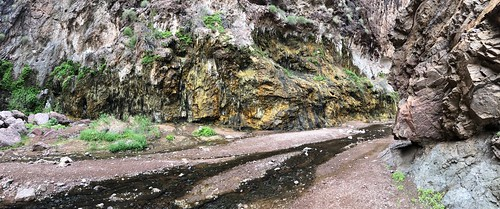 Nevada - Panorama of the hot spring area