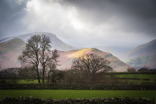 Stone walls, and Helvellyn