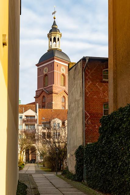 Der Turm der Nikolaikirche in Spandau