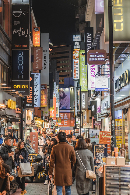 Myeongdong lights, Seoul