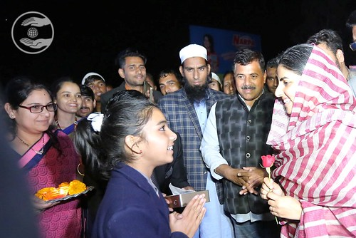 Child devotee welcomed Her Holiness