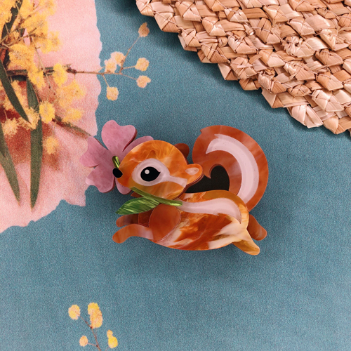 Erstwilder Chocolate the Chipmunk Brooch