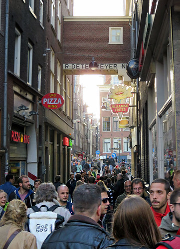Crowds in Amsterdam on a regular day!