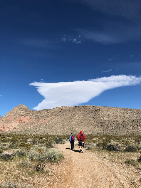 Nevada - Jim and Tammie on the hike near Calico
