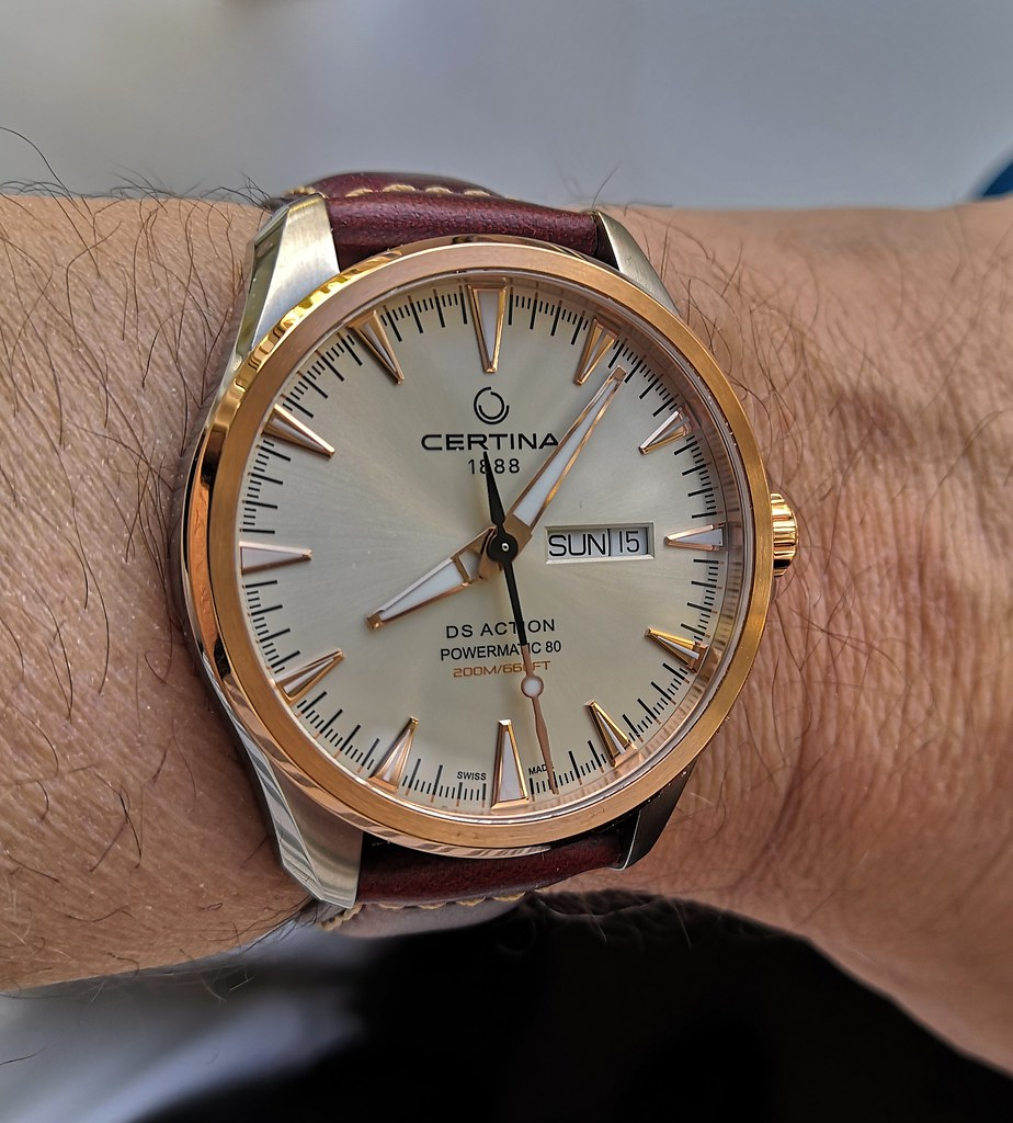Certina 'DS Action Day-Date' Powermatic 80