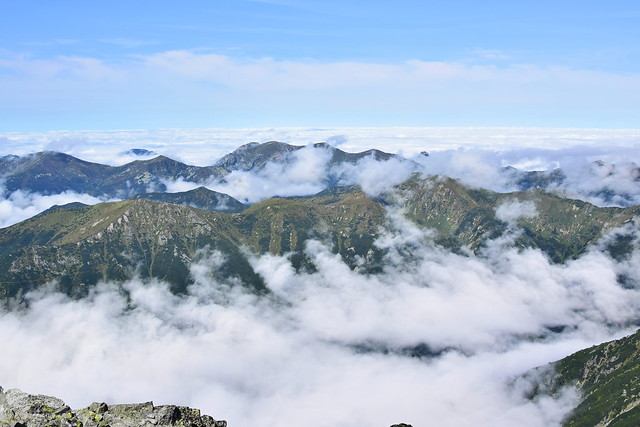 Fog curtain from Kriváň | High Tatras