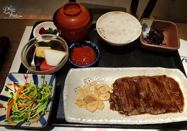kampachi teppanyaki beef